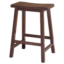 "Satori 24"" saddle seat bar stool antique walnut"