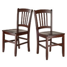 94245 Madison Slat-back Chairs, 2-Pc Set, Walnut