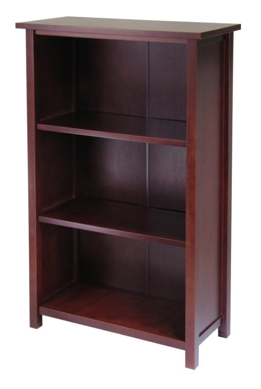 Milan Storage Shelf or Bookcase 4-Tier- Medium