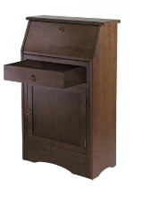 Regalia secretary desk walnut finish