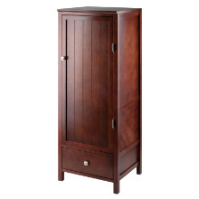94402 Brooke Jelly Drawer and Shelves Cupboard, Walnut