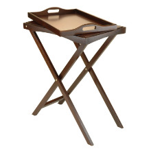 94422 Devon Butler TV Table with Serving Tray, Walnut
