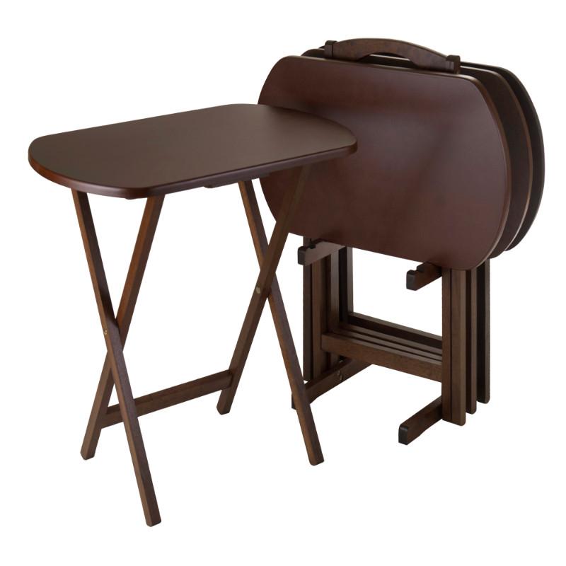 Corbett 5-Pc Oversize Oblong Snack Table Set