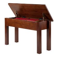 94739 Emmett Bench with Seat Storage, Walnut