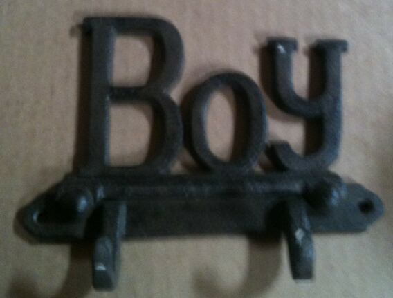 Cast iron boy wall hanger