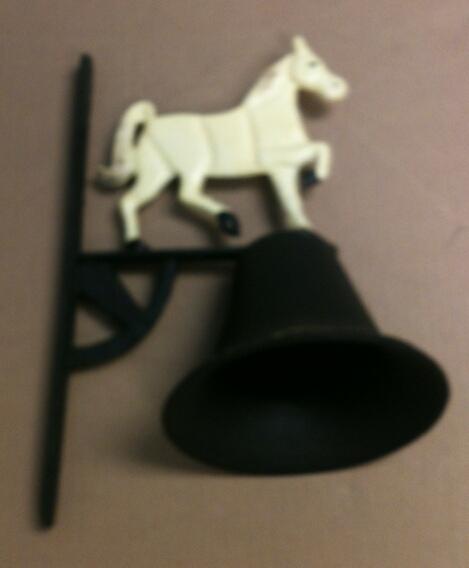 Cast iron cow w/bell wall hanger.