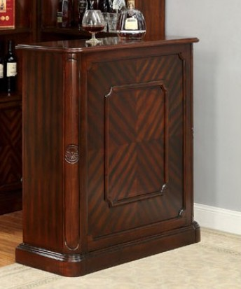 CM-CR142-BT Voltaire dark cherry finish wood bar unit wine bottle rack and glass racks