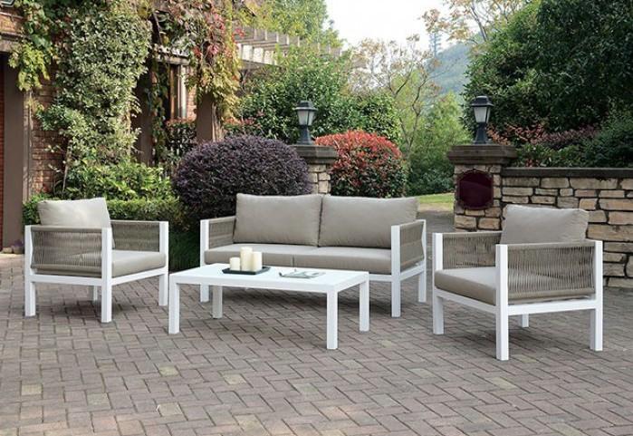 CM-OS2137-4PC 4 pc Brayden studio branham mazie white metal frame love seat and chair set