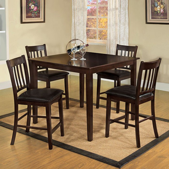 CM3012PT-5PK 5 pc Darby home co faulk west creek I espresso finish wood counter height dining table set