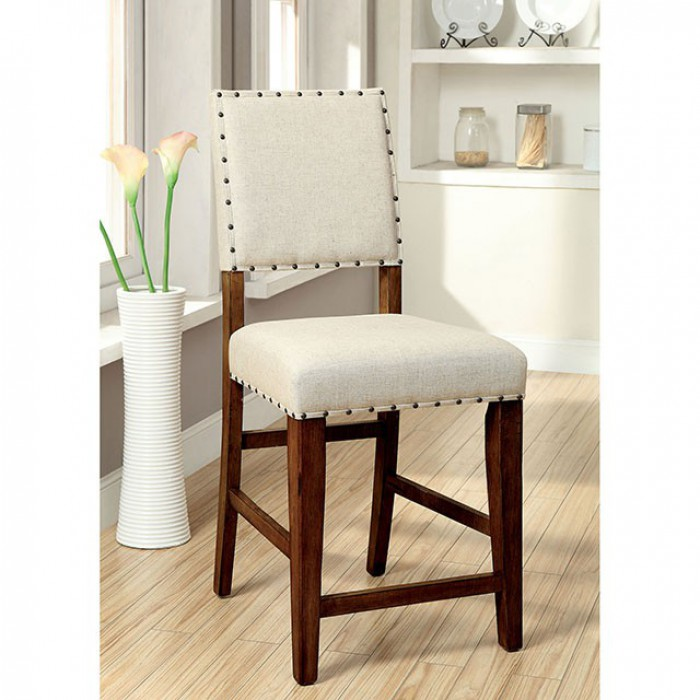 CM3324PC-2PK 2 pc Sania contemporary style natural tone finish wood counter height stools with padded seats