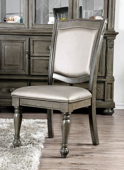 CM3350GY-SC-2PK Set of 2 alpena gray finish wood dining side chairs