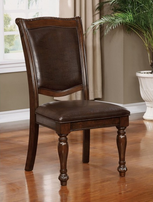CM3350-SC-2PK Set of 2 Alcott hill montcalm alpena brown cherry finish wood dining chairs