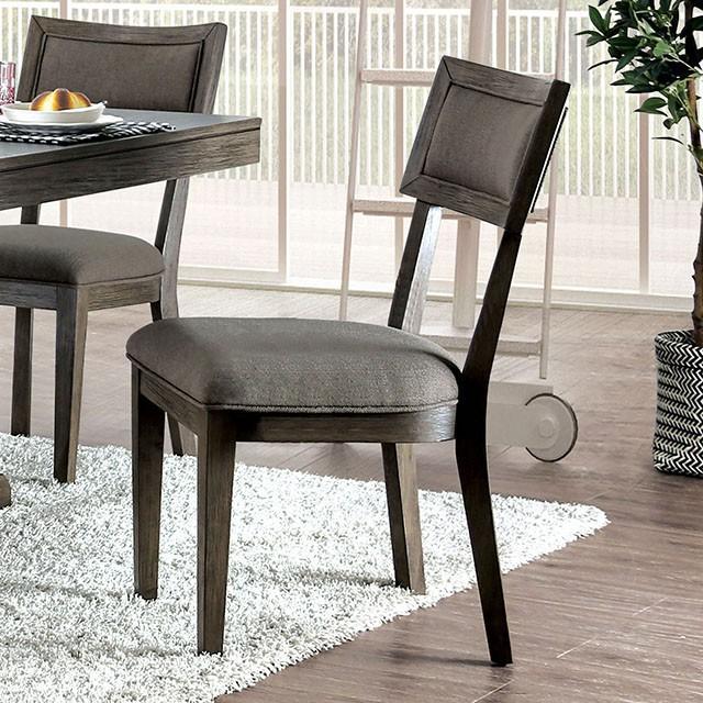 CM3387SC-2PK Set of 2 Gracie oaks clegg leeds gray finish wood dining chairs