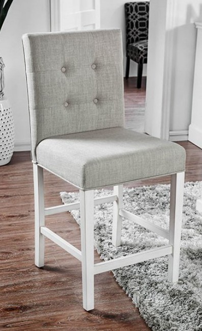 CM3390PC-2PK Set of 2 Sutton antique white finish wood counter height dining chairs