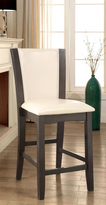 CM3710GY-PC-2PK Set of 2 Hokku designs uptown manhattan i gray finish wood counter height chairs