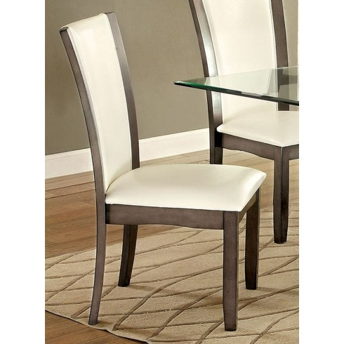 CM3710GY-SC-2PK Set of 2 manhattan i gray finish wood dining chairs