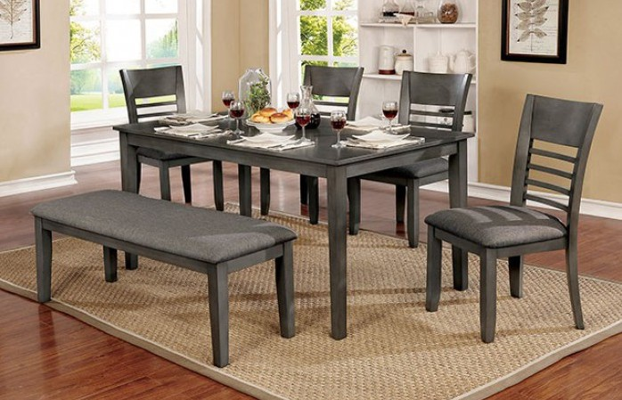 CM3916GYT-60-6PC 6 pc Darby home co lydney hillsview i gray finish wood dining table set