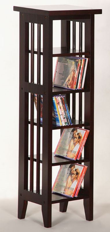 Asia Direct 5418-ESP Espresso finish wood dvd media rack stand