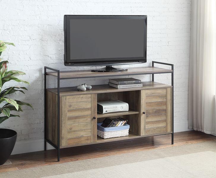 Acme LV00743 George oliver Baina mid century retro modern driftwood multi tone finish wood tv stand
