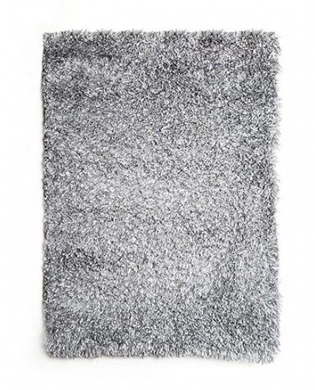 "RG4104 Annmarie 3"" thick silver mix shag area rug 5' x 7'"