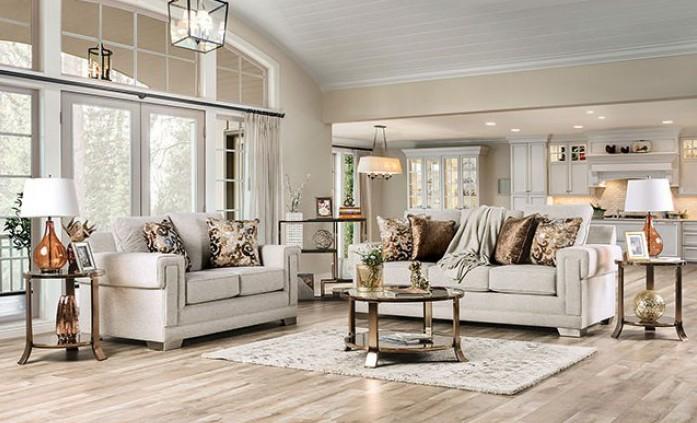 SM6437 2 pc Rosdorf park myra emely light gray chenille fabric sofa and love seat set