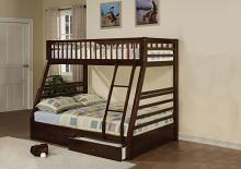 Acme 02020 Zoomie kids culpepper jason espresso finish wood under bed drawers twin over full bunk bed set