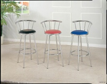 Set of 2 chrome plated bar stools