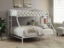 Acme 02052WH Tritan twin XL over queen white finish tubular metal bunk bed