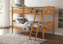 Acme 02301 Homestead honey oak finish twin over twin bunk bed set