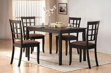 Acme 06850-51 5 pc cardiff espresso finish wood dining room table set