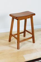 Acme 07305 Set of 2 gaucho oak finish wood counter height farmhouse style bar stools
