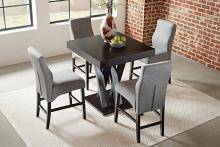 100523 5 pc Wildon home nevarra lampton espresso finish wood counter height dining table set