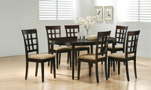 100770-72 5 pc Wildon home gabriel crawford espresso finish wood oval top dining table set