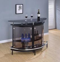 101065 Orren ellis fairborn modern style black high gloss finish curved front bar unit