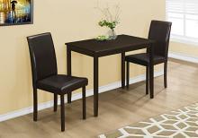 DINING SET - 3PCS SET / ESPRESSO / BROWN PARSON CHAIRS