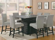 102068 7 pc Wildon home stanton black finish wood counter height dining table set