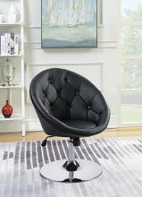 102580 Latitude run stennis black faux leather scoop chair with button tufted styling