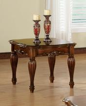 Acme 10291 Dreena cherry finish wood carved accents end table