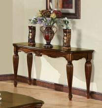 Acme 10292 Astoria grand wansley dreena cherry finish wood carved accents sofa table