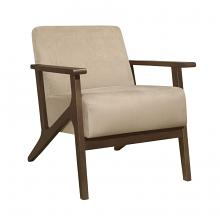 Homelegance 1031BR-1 August mid century modern light brown velvet fabric accent chair