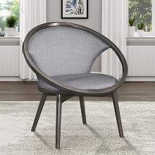 Homelegance 1033F1S Lowery mid century modern dark charcoal finish wood gray herringbone fabric accent chair