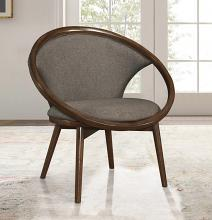 Homelegance 1033F2S Lowery mid century modern walnut finish wood chocolate textured fabric accent chair
