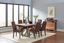 106581 7 pc Wildon home spring creek natural walnut espresso finish wood dining table set