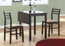 DINING SET - 3PCS SET / ESPRESSO SOLID-TOP DROP LEAF