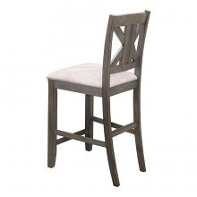 Coaster 109859 Set of 2 Rosecliff heights athens barn grey finish wood counter height dining chairs