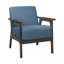 Homelegance 1103BU-1 Ocala mid century modern blue linen fabric accent chair