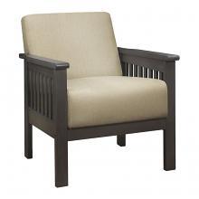 Homelegance 1104BR-1 Lewiston mid century modern light brown linen fabric accent chair