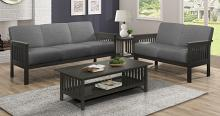 Homelegance 1104GY-2PC 2pc Lewiston mid century modern gray textured fabric sofa and love seat set