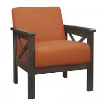 Homelegance 1105RN-1 Herriman mid century modern orange linen fabric accent chair