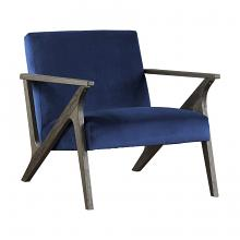 Homelegance 1111NV-1 Coriana mid century modern navy velvet fabric accent chair